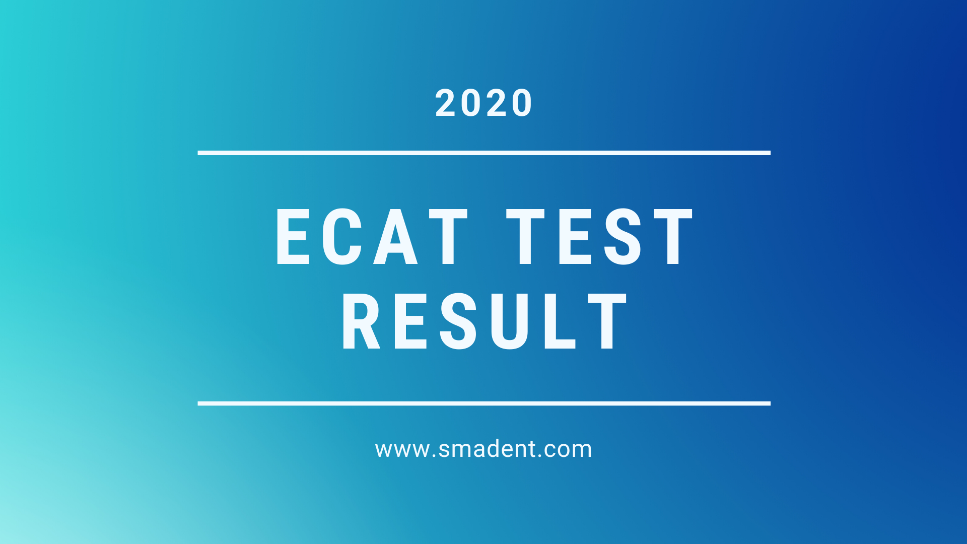 ECAT Test Result 2021
